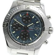 Breitling Colt A13388 Chronograph Navy Dial Automatic Menand039s Watch_602039