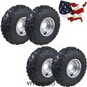 4 Pack 145/70-6 6 Inch Tire Tyre And Rim For 49cc Kids Buggy Quad Atv Go-kart Cart