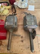 Gas Lamps From Horse Drawn Carriage Antique Covert To Outside Lights