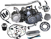 Lifan 125cc Motor Engine 4 Speed Semi Auto +wires+ Exhaust For Crf50 70 Xr70 Z50