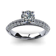 1.00 Ct Real Diamond Engagement Ring For Women Solid 950 Platinum Rings Size 8/2
