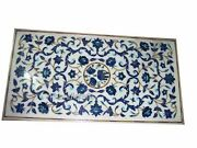 30 X 60 Inches Marble Dining Table Top Inlay Utility Table With Gemstones Work
