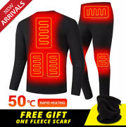 Winter Heated Underwear Usb Battery Powered Fleece Thermal Heating Electric Suit