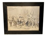 Vintage 1880s Immigrant Labor Union Parade Statue Liberty American Flags Photo