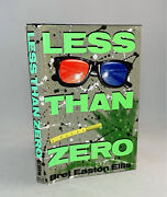 Less Than Zero-bret Easton Ellis-signed-first/1st Edition/2nd Printing-rare