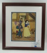 Disney Snow White Sneezy And Dopey Dancing Partners Sericel Limited Edition