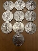 2014 American Silver Eagle - 10 Coins Plus Mint Tube