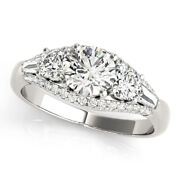 1.50 Ct Real Diamond Wedding Ring For Women Solid 950 Platinum Rings Size 5 6 8