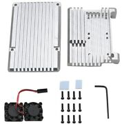 20xfor Raspberry Pi 3 Model B+ Aluminum Case With Dual Cooling Fan Metal