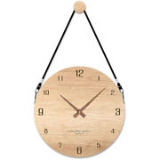 10x12 Inch Modern Wall Clock Battery Operated Silent Non-ticking Wooden