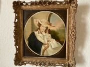 Old Oil Master Oil Painting Antique Painting Lady Portrait 18 Century Coa