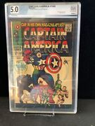 Captain America 100 Graded 5.0 First Own Title