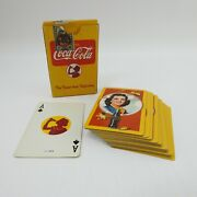 Vintage Coca-cola Playing Cards 1940s Autumn Leaves Deck Tax Stamp