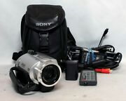 Sony Handycam Dcr-sr200 Hdd Hard Disk Drive Wide Lcd Camcorder 40gb