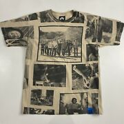 Vintage Nike Sb Nothing But The Truth All Over Print Skate T-shirt Medium Rare