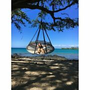 Flying Saucer Tree Hammock Swing Chair Bed Patio Garden Outdoor Lounger With Net