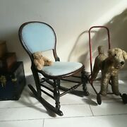Gillow Style Rocking Chair Balloon Back Victorian Childs Antique Small Chair