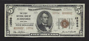 Elmsford Ny 12956 Series 1929 5.00 T-2 Xf A000002 Westchester Trophy Note