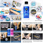 Anti Uv Epoxy Resin And Hardener Kit Crystal Clear Easy Cast For Diy Art Craft