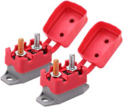 Dc 12v - 24v Automatic Reset Circuit Breaker With Cover Stud Automotive 40a 2pcs