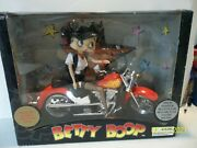 2004 Betty Boop Talking Biker Doll Red Motorcycle Rare New-in-box