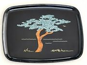 Couroc Of Monterey Cypress Tree Tray Signed Sfb Morse Vintage