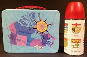 1960 Canadian Provinces Metal Lunch Box And Thermos General Steel Ware Gsw Rare