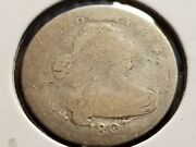 1807 Draped Bust Silver Dime Very Tough Date  Inv01  D185