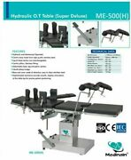 Me -500 H Hydraulic Detachable Head Ot Table Centric Pillars Stainless Fitting