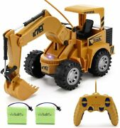 R/c Construction Excavator 4x4 Light Loader Tractor Remote Control Toy Kid Sand