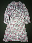 Jigsaw Junior Geo Tulip Print Dress Green Seal Size 6/7 Years Rrp Andpound49.00