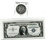 1901-s 1 Morgan Silver Dollar And 1957a 1 Silver Certificate Lot Of 1 Each