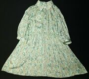 Jigsaw Button Frnt Spring Floral Dress Turquoise Size 6/7 Years Rrp Andpound49.00 Lot 2