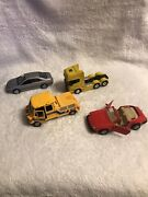 4 Vintage Miniature Toy Cars Different Models