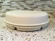 Vtg Tupperware Divided Veggie Relish Chipdip Serving Tray W/dip Bowl And Lid 19991