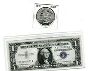 1891-p 1 Morgan Silver Dollar And 1957b 1 Silver Certificate Lot Of 1 Ea X1700