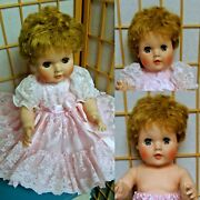 Vintage American Character Toodles 20 Doll Fancy Pink Dress