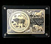 2019 5 Year Of The Pig Coin Bar Set 20th Anniversary Of The Lunar Series.