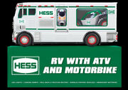 2018 Holiday Hess Rv With Atv And Motorbike-new Must Have Exciting Collectible
