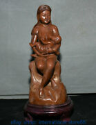 11 China Shoushan Stone Carving Feng Shui Mother Feeding The Baby Sculpture