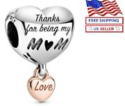 Authentic Pandora Silver S925 Ale Love You Mom Heart Charm