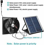 1750cfm Solar Powered Exhaust Fan Ac Power Backup Built-in Thermostat Switch