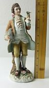 Lefton China Hand Painted Colonial Man Figurine Kw8180 10 Tall Bisque