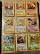 Pokemon - Jungle Set - Complete Commons/uncommon Penny Sleeved Cards