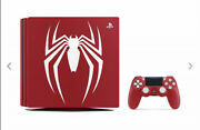 Sony Playstation 4 Pro Marveland039s Spider 1tb Limited Edition Console