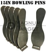 Steel Shooting Targets-action Pistol Knockovers-15 Inch Idpa/ispc Bowling Pins
