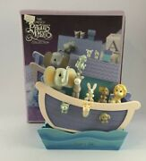 Precious Moments 1991 Noah's Ark Wooden Action Musical 623105 New