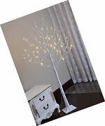 Led Lighted Birch Tree Christmas Party Decorations Indoor/outdoor Warm White 6ft