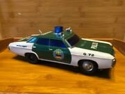 1960and039s Battery Operated Japan Tin Chevrolet Polizei Patrol Car Toy