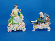 Herend Winter And Spring Figurine Porcelain